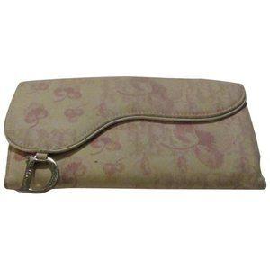 DIOR Pink Trotter Cherry Saddle Bag Tri-fold